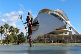 VALENCIA, Spain -- A metal statue of Poseidon.